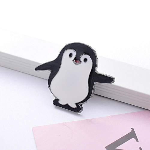 Alfileres de esmalte de animales de dibujos animados Cute Panda Penguin Broches Insignias para mujeres Hombres Ropa Mochila Pin de solapa Bolsa de joyería Accesorios-Big Penguin, China