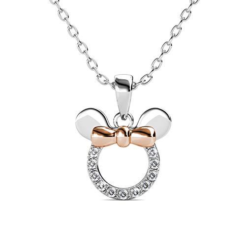 Joyeria para niñas Minnie Mouse collar pequeño mimi mouse cristales brillantes y lujosos. (Pendal-NYWG)