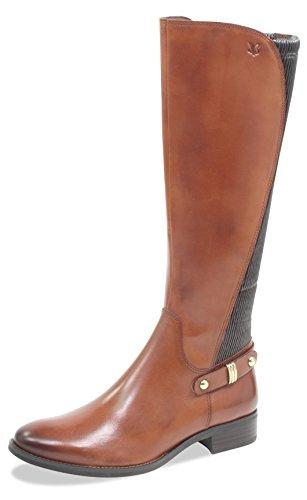 CAPRICE Damen Stiefel 25521-21,Frauen Boots,Lederstiefel,Reißverschluss, Decksohle,2.5cm,Cognac Nappa,UK 4,5