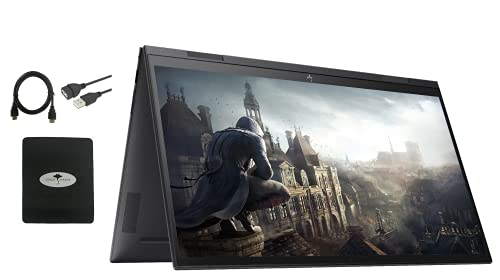 2021 Newest HP Envy x360 2in1 15.6' FHD Touch-Screen Flagship Laptop, AMD Ryzen 5 5500U 6-core(Beat i7-11370H, up to 4GHz), 16GB RAM, 512GB PCIe SSD, Backlit-KB, Fingerprint, Win10,w/GM Accessories