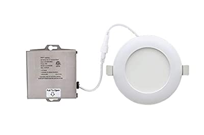 """LED Recessed Ceiling Light Disk – 4"""" - 6"""" Ultra Thin Round Spotlight – Dimmable - ETL List - IC-Rated - 810-1100 Lumens - With Remote Driver Box - 3000K"""