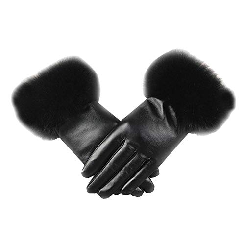 Runshiwan Bike Bicycle Motorcycle Gloves, Cleansed Waterproof Woman Imitation Leather Gloves Female Warm Touch Screen Gloves Accessories for Men/Women