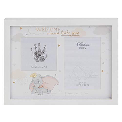 Disney Dumbo Box mit Stempelkissen DI547 für Handabdruck und Fotorahmen, inkl. Stempelkissen