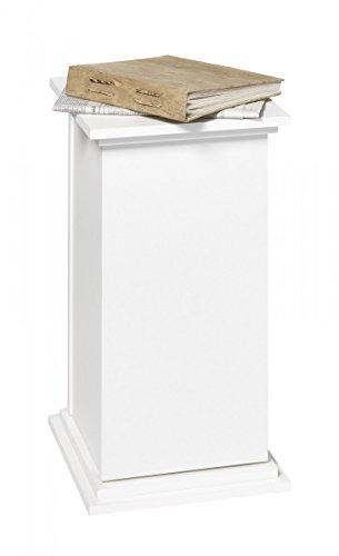 Dreams4Home Dekosäule 'Simon III' (B/H/T) ca. 30 x 58 x 30 cm in Weiß Schrank Dekoschrank Schränkchen Wohnzimmer Esszimmer Diele/Flur Büro