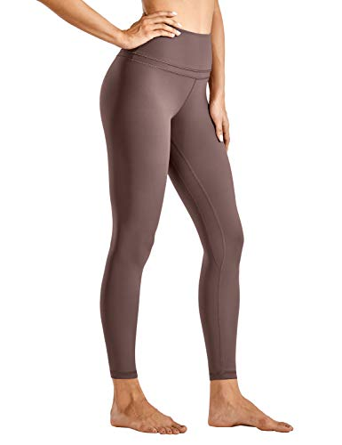 CRZ YOGA Damen Sports Yoga Leggings Sporthose mit Hoher Taille-Nackte Empfindung -63cm Lila Taupe 34
