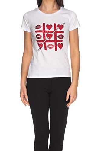 Liu Jo WA0340 J0094 Camisetas Y Camisa DE Tirantes Mujer Bianco S