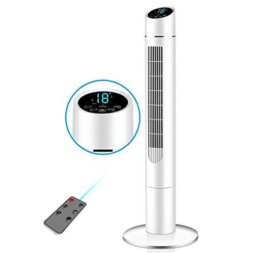 XCTLZG Enfriador de Aire portátil - Ventilador de Torre oscilante silencioso de 41 '' con Control Remoto, Ajuste de 3 velocidades y Ventilador de pie con Temporizador de 8 Horas