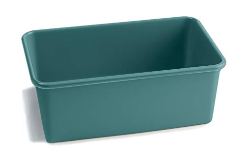 Jamie Oliver Loaf Tin, 1 lb (1 litre) - Non-stick, carbon steel rectangle loaf pan for baking, 19 cm x 11.5 cm x 9 cm (7.5 in x 4.5 in x 3.5 in), in atlantic green