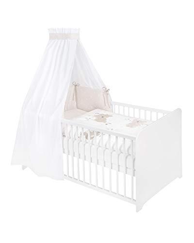 Julius Zöllner 5705110030 Sängset för babys- och barnsängar, 3-delat inklusive bo, himmel och sängkläder 100 x 135 40 x 60 cm, 100 % bomull, tillverkad i Tyskland, koalas, flerfärgad, 1560 g