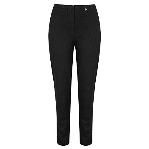 Robell - Bella Slim Fit Lange Jean, Zwart