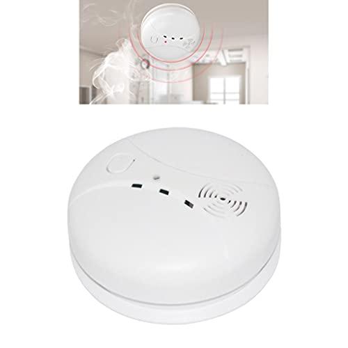ZZALLL Alarmas de Humo Detector de Humo Independiente operado por batería Alarma de Incendio con 80dB Loud/Light Seguridad de Garaje para el hogar