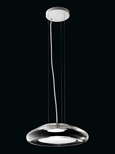 Leucos Keyra 0403103523649 - Lámpara de techo LED (30 S, cristal y metal), color blanco y transparente