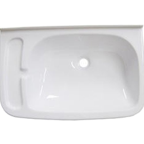 Brunner 300/527 - Lavabo para autocaravanas (465 x 295 mm), Color Blanco