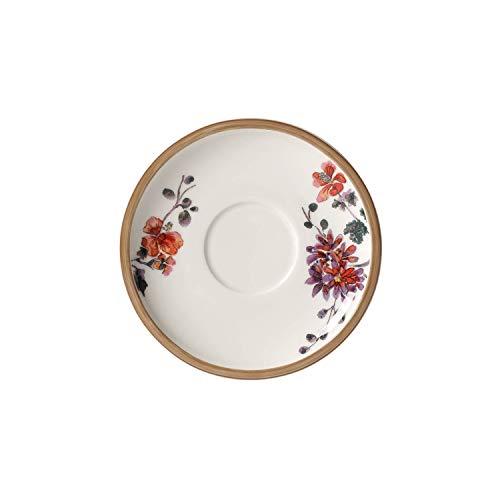 Villeroy & Boch Artesano Provençal Verdure Sous-tasse, 16 cm, Porcelaine Premium, Blanc/Multicolore