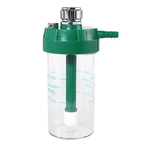 SHURROW Botella humidificadora Seca de 200 ml Compatible con regulador de oxígeno, manómetro de presión O2, Botella humidificadora de Nivel Superior e Inferior
