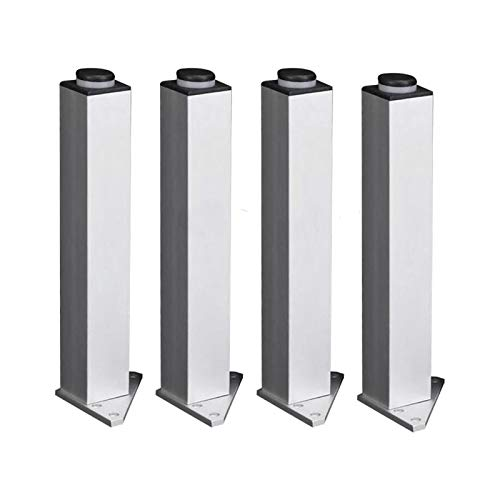 SHOP YJX 4 unids muebles tazas 180mm ajustable triángulo base plata aleación de aluminio muebles patas gabinete sofá pies handware herramientas