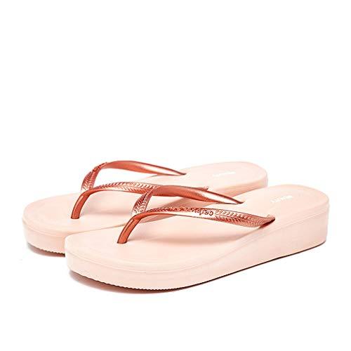HRFHLHY dames casual flip-flop verhoging cool slippers normale lak eenvoudige flip-flop badkamer drag