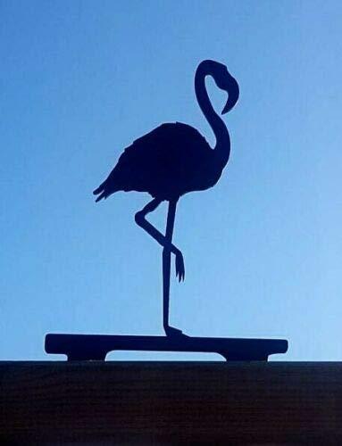 JR Hangers En Ambachten Metalen Flamingo Hek Post Topper, Tuin Ornament, Tuin Decor, Metalen Kunst