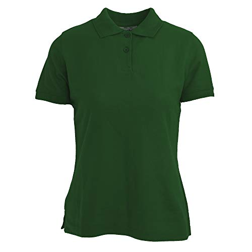 Absolute Apparel - Polo Diva para Mujer (M/Verde Botella)