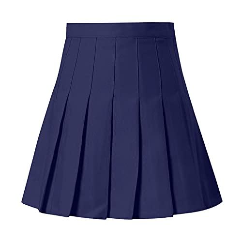 N\P Cintura alta falda plisada verano mujeres pantalones una línea corta falda ropa deportiva