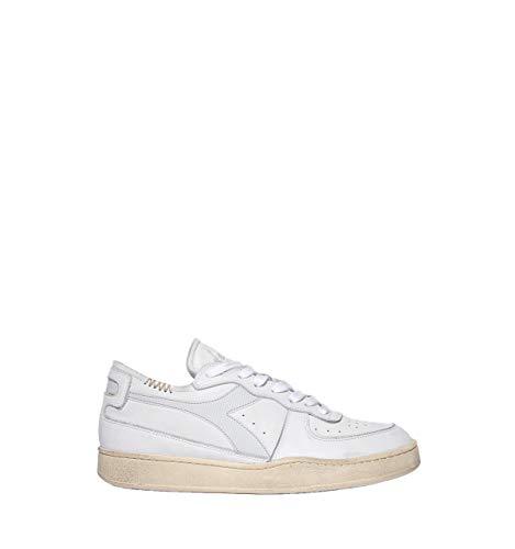 Diadora - Heritage Scarpa Sneaker Unisex Mi Basket tow Cut Bianco - 43