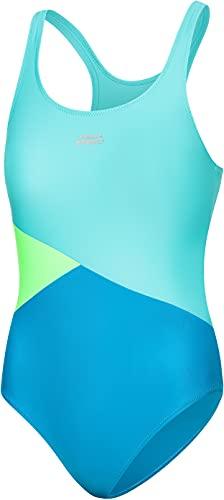 Aqua Speed Pola Badeanzug Mädchen | Einteiler | 104-158 | UV-Schutz | Blickdicht | Chlorresistent | Anti-Pilling | Schwimmanzug Blue - Turquoise - Light Green - 28 Gr. 140