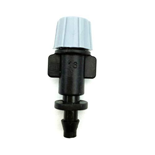 "GUANGHEYUAN-J 10 PC-Grau-Düse Spray Bewässerung Micro 1/4 ""Stacheldraht Garten Rasen Bewässerung mit einzelnem Barb Connect to 4 / 7mm Schlauch,Einfach zu bedienen (Color : Light Grey)"
