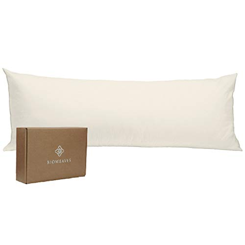 BIOWEAVES 100% Organic Cotton Body Pillow Cover for Body...