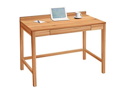 HomeTrends4You Living Schreibtisch/Konsolentisch/Sekretär, Echtholz Wildeiche massiv geölt, braun, 110x60cm, Höhe 81cm