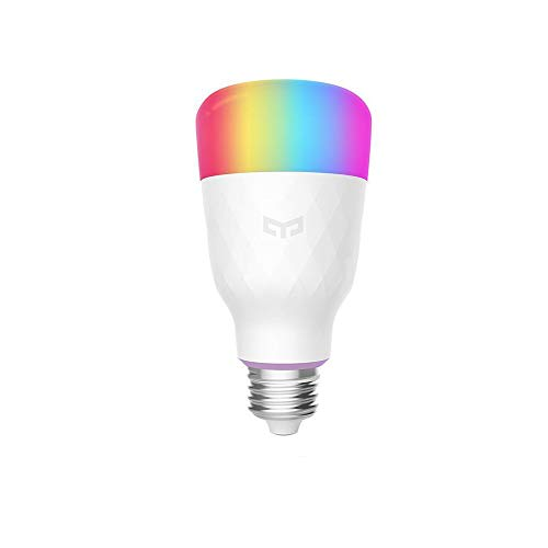 YEELIGHT Smart LED Bulb, Multi Color RGB, Wi-Fi, Dimmable, 60W Equivalent(10W), E26/E27 Smartphone Controlled, Works with Amazon Echo Alexa,Google Home,Compatible with Alexa, 1-Pack (E27)