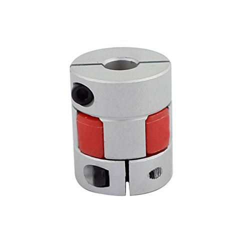 sourcing map 8mm zu 10mm Schaftpflaumenförmiger elastischer Kupplung 25mm Dmr 3cm Länge DE de