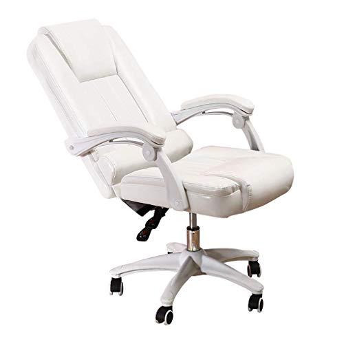 Chair Sedia operativa ergonomica per mobili Sedie direzionali direzionali con Schienale Alto in Pelle PU, Altezza Regolabile 8 cm e sedie da scrivania girevoli reclinabili 145 °