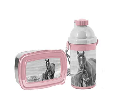 Horse paarden My little Friend broodtrommel drinkfles lunchset lunchbox fles nieuw meisje