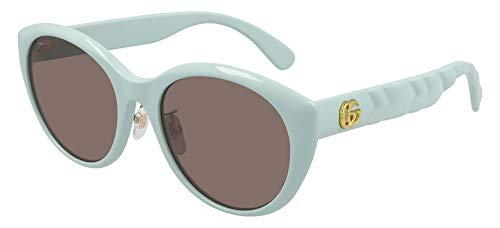 Gucci Gafas de sol GG0814SK 003 Gafas de sol mujer color Verde marrón tamaño de lente 56 mm