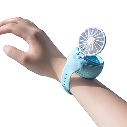 MikoDream kids personal mini fan,portable small electric fans hand free,ourdoor handheld fan for childrens boys girls,battery operate fan for desk camp, folable wireless rechargable