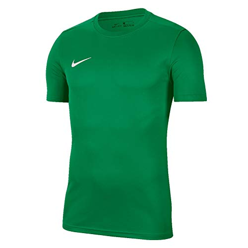 Nike Y Nk Dry Park VII JSY SS T-Shirt, Unisex Bambini, Pine Green/White, M