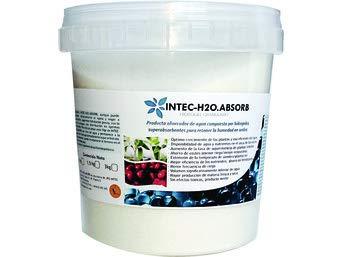 INTEC-H2O.ABSORB. Hidrogel para Plantas, Retenedor de Agua. CERO-CO2. 1KG