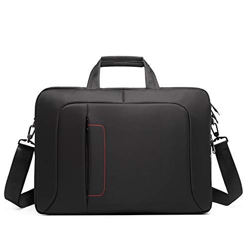 DLQX Men's Business Briefcase,Office Travel Messenger Large Portable File Package,Laptop Bag Work Bag,Available For Travel/Business/School (black)(Color:A)