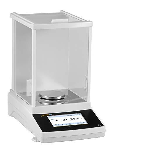 PCE Instruments Balanza analítica digital con pantalla táctil, con función de contaje de piezas (Rango 220 g, Resolución 0,1 mg, Precisión ± 0,5 mg) PCE-ABT 220