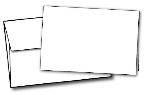 """80lb White Half Fold Greeting Cards & Envelopes - Paper Measures (11"""" X 8 1/2"""") and Half Folds to (5 1/2"""" X 8 1/2"""") - 40 Cards with Envelopes - Desktop Publishing Supplies, Inc. Brand"""