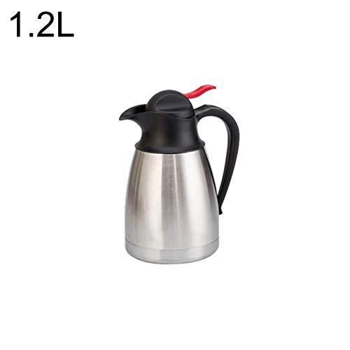 CAheadY 1,2/1,5 / 2L Edelstahl Thermische Glaskanne Kaffeekanne Isolierflasche Silver 1.2L