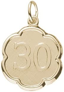 Rembrandt Charms Number gift 30 supreme Charm Yellow Gold 10K