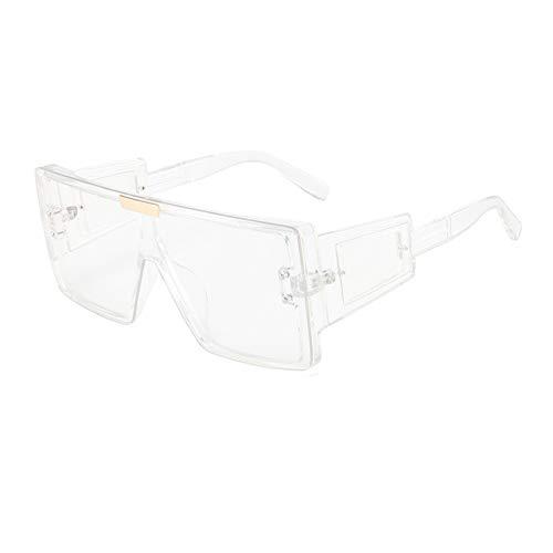 N\P Gafas de sol de montura grande de una pieza con patas ensanchadas y gafas de sol para mujer