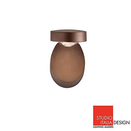 Studio Italia Design Pin Up LED aplique lámpara de pared o techo Bronce