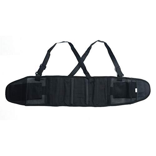 Techwills werkband rugbandage instelbare werkveiligheid ontlast rugsteunriem industriële riem rugriem schouderriem rugspieren veiligheidsgordel sport fitnessriem, X-Large