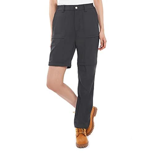 Vzteek Damen Trekkinghose Zip Off Wanderhose kurzgröße lang Walking Funktionshose Bequeme Stretch Sommer Outdoor
