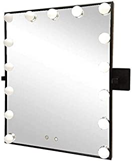 Daily Necessities Wall-Mounted Vanity Hollywood Mirrors with 15 Dimmable Light Bulbs   Makeup Vanity Mirror   Bathroom Shaving Mirror   Cosmetic Mirror   Touch Control   Black Decorative Mirror
