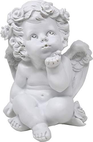 UDIG Süße Engel mit Edelsteinherzen Schutzengel mit Edelstein 16 cm (ohne Herz)