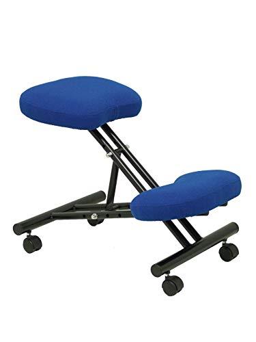 Piqueras Y Crespo 37BALI229 - Taburete ergonómico para oficina, Azul