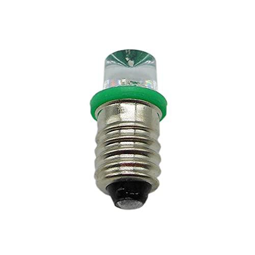 5pcs Saucer Head E10 Tornillo Diodo LED Luz Lámpara Indicador Indicador DC 3V 3 8V 4 5V 8V Estudiante Experimental Bombilla-Verde x1pc_3V